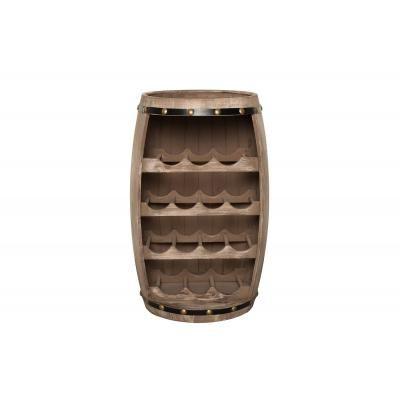 Tömör fenyőfa bortartó 60 cm, natúr - BEAU CHAIS